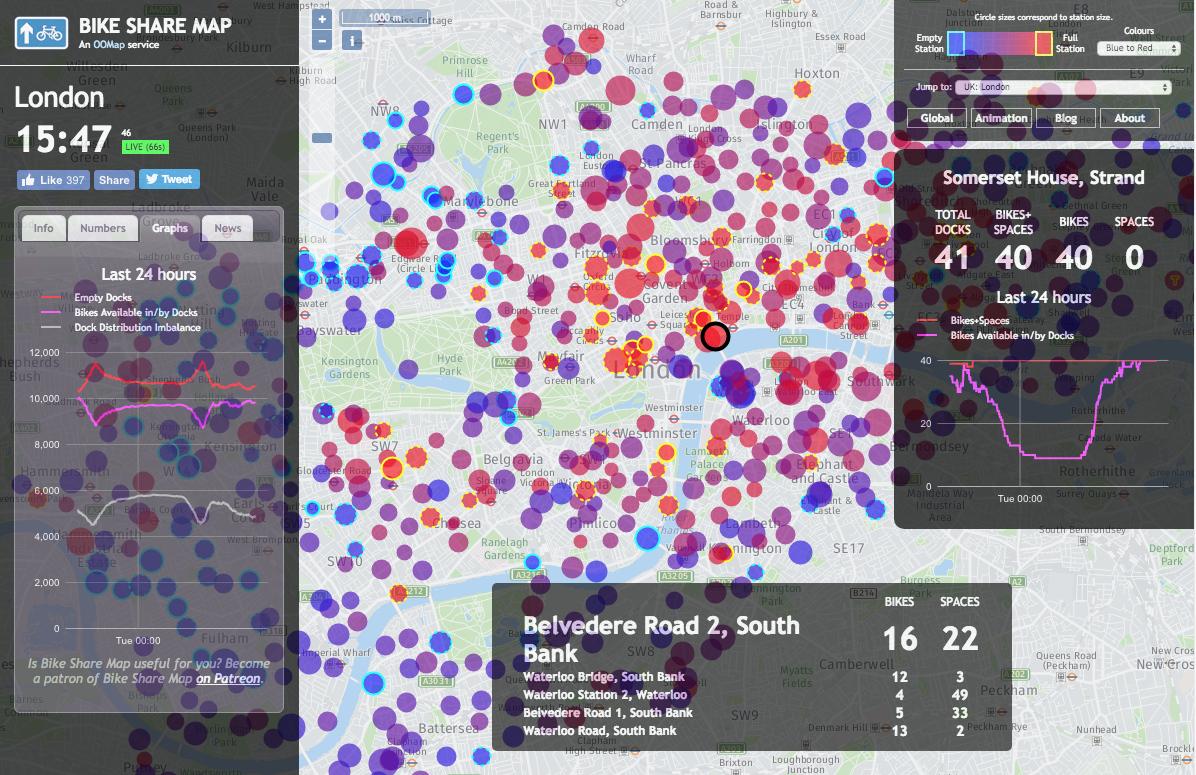 Barclay Bike Map Bike Share Map | Suprageography
