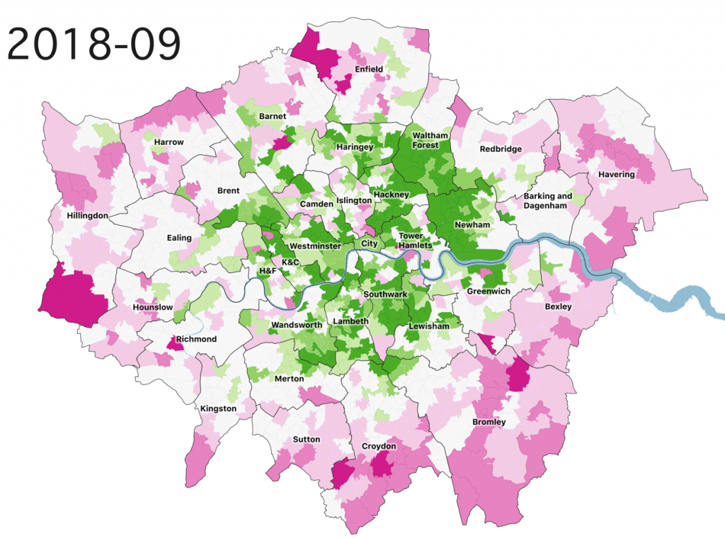 House Price Performance Variations In London Over 23 Years